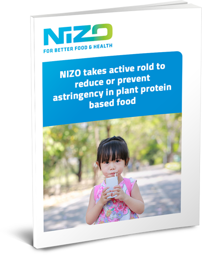 NIZO takes active rold to reduce or prevent astringency in plant protein based food cover